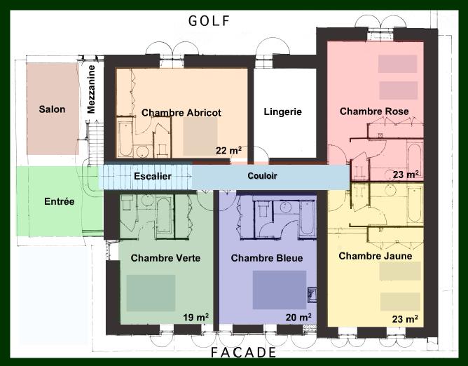 Tarifs des chambres irigoian for Salle de bain avec wc separe