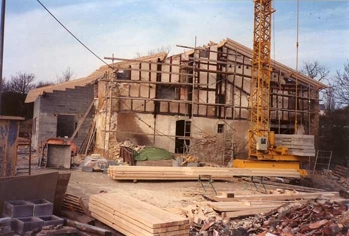 Maison Irigoian en travaux