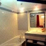 Cuarto de baño de la habitación azul