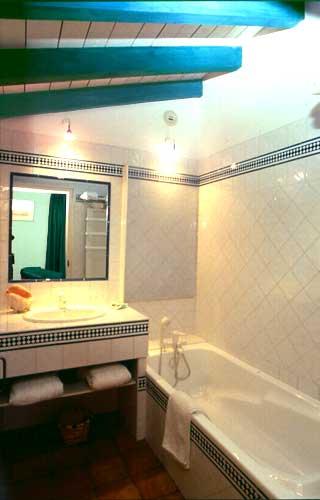 Cuarto de baño de la habitación verde