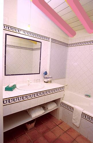 Photo de la salle de bain de la chambre rose